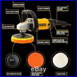 1200W Car Polisher Sander Buffer Floor Boat Polishing Machine M14 Thread Pad Kit