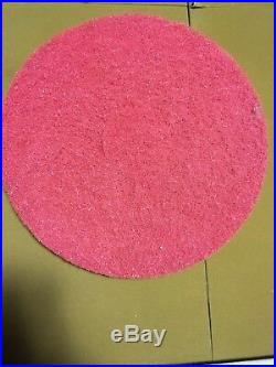 (12) Floor Buffing/buffer Pads, 13 Red 5100 175-600 Rpm's 3m Scotch-brite