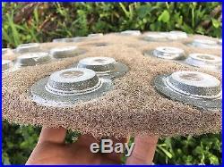 17 Eco guard Diamond Polishing Pads Concrete Floor Polisher Grinder (set of 5)
