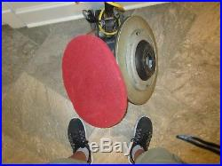 20 Inch 2-speed Floor Machine Buffer with Driving Pad and Red Buffing Pad