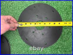 21 QTY! BULK LOT 9-1/2 X 9/16 Floor Waxer Polisher Pad Rubber Back Drive Plate