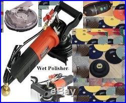 220V Dustless Wet Polisher 125mm Polishing 15 Pad Concrete Granite floor stone