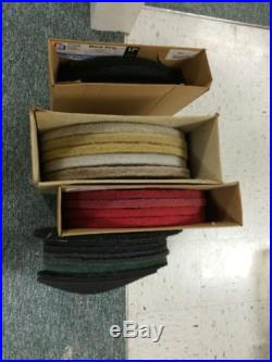 22 Floor Cleaner Polisher Pads 17 20 Some New Some Used Red Black Tan White