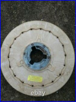 2 floor buffer wheels and pads, at least 1 is Flo-pac