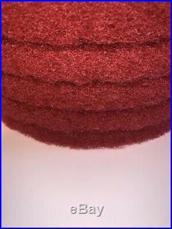30 Pads 3M 13'' Red 5100 Floor Buffing / Buffer Cleaning Pads 175-600 RPM