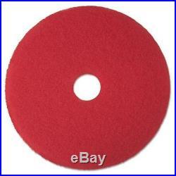3M 08394 Buffer Floor Pad 5100, 19, Red, 5/Carton