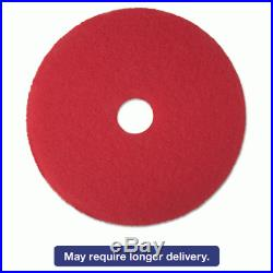 3M 08394 Buffer Floor Pad 5100, 19, Red, 5 Pads/Carton