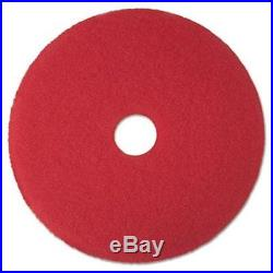 3M 08394 Buffer Floor Pad 5100, 19 in, Red, 5 Pads-Carton