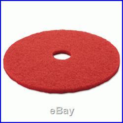 3M 08395 Buffer Floor Pad 5100, 20, Red, 5 Pads/Carton