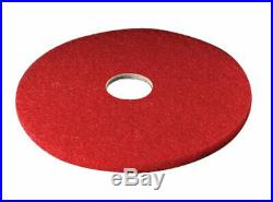 3M 19 in. Dia. Non-Woven Natural/Polyester Fiber Buffer Floor Pad Red