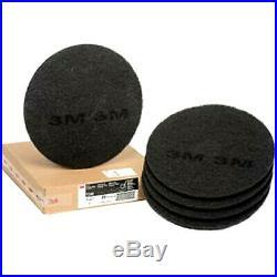3M BLACK FLOOR BUFFER PAD S 17 NEW (CASE OF 5) for FLOOR SCRUB STRIP MACHINE