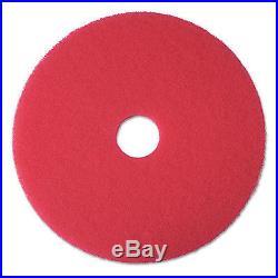 3M Buffer Floor Pad 5100, 13, Red, 5/carton