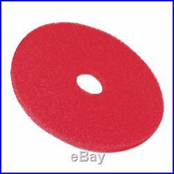 3M Buffer Floor Pad 5100, 20 In, Red, 5 Pads/Carton, CT MMM08395