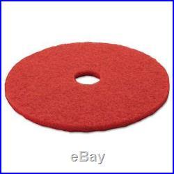 3M Low-Speed Buffer Floor Pads 5100, 20 Diameter, Red, 5/Carton 048011083957