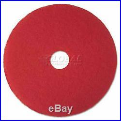 3M MMM08388 Buffer Floor Pad 5100, 13, Red, 5 Pads/Carton 8388 1 Each
