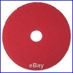3M MMM08399 Low-Speed Buffer Floor Pads, Red 24 in