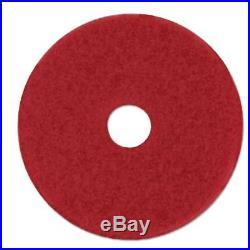 3M Red Buffer Floor Pads 5100, Low-Speed, 28 x 14, 10/Carton MMM59065