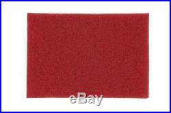 3M Red Buffer Pad 5100, 12 x18 Floor Buffer, Machine Use (Case of 5)
