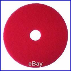 3M Red Buffer Pad 5100, 16 Floor Buffer, Machine Use (Case of 5)
