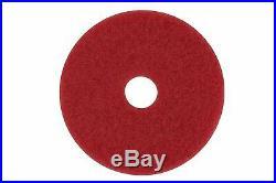 3M Red Buffer Pad 5100, 18 Floor Buffer, Machine Use (Case of 5)