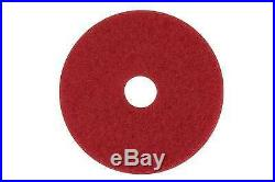 3M Red Buffer Pad 5100, 19 Floor Buffer, Machine Use (Case of 5)