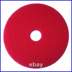 3M Red Buffer Pad 5100, 20 Floor Buffer, Machine Use (Case of 5)New Damaged Box