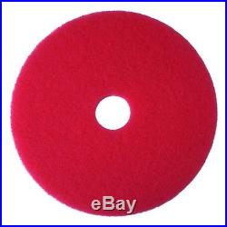 3M Red Buffer Pad 5100, 21 Floor Buffer, Machine Use (Case of 5) 21