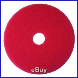 3M Red Buffer Pad 5100, 23 Floor Buffer, Machine Use (Case of 5)