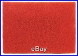 3M Red Buffer Pad 5100, 28 x 14 Floor Buffer, Machine Use (Case of 5)