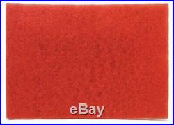 3M Red Buffer Pad 5100, 32 x 14 Floor Buffer, Machine Use (Case of 10)