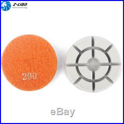 3PCS 4 Inch Floor Diamond Polishing Pads Granite Marble Concrete Floor Polisher