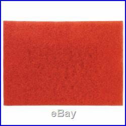 3m Red Buffer Floor Pads 5100, Low-Speed, 28 x 14, 10/Carton (MMM59065)