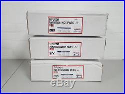 3x Boxes of Robert Scott 17 Red Floor Buffer Machine Pads (5 pads Each) 102661
