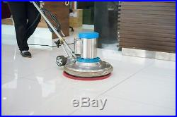 430mm Premium Heavy Duty Floor Cleaning Buffer Pads. Pack of 5 (white polisher)