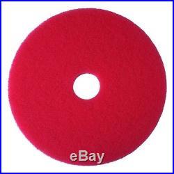 (43cm, 5) 3M Red Buffer Pad 5100, 43cm Floor Buffer, Machine Use (Case of 5)