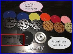 4 Diamond Floor THICK Triad Planetary polisher pad 36 + 3 Aluminum Backer stone
