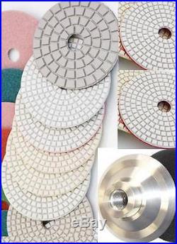 4 Diamond Polishing 46 Pad 6 Buffer Aluminum Backer GRANITE Concrete floor tile