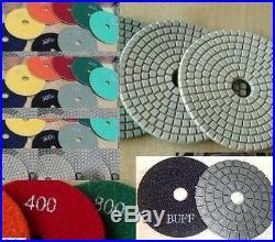 4 Diamond wet dry polish pad buffer 54 stone travertine concrete floor grinder