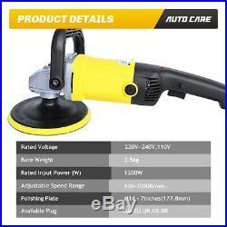 5 7 Car Polisher Buffer Sander Floor Polishing Machine Buffing Sponge Pads Kit