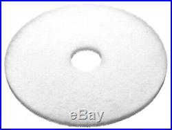 5 x White 15 Floor Cleaning Scrubbing Dry Buffing & Polishing Janitorial Pads