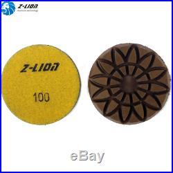 7PCS/3 Inch Granite Wet Polisher Resin Floor Diamond Polishing Pad Grit 50-3000