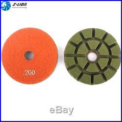 7Pcs 4'' Diamond Floor Polishing Pads Resin for Concrete Granite Stone Polisher