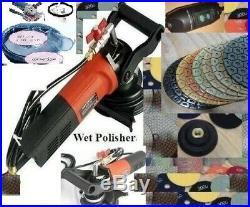 7 Variable Speed Wet Polisher Dust shroud polishing pad granite floor concrete