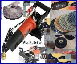 7 Variable Speed Wet Polisher Dustless polishing 8+1 pad granite floor concrete