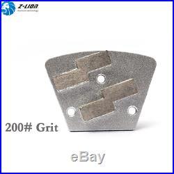 9Pcs Concrete Floor Grinder Grinding Pad Concrete Grinder Polisher Metal Grit200