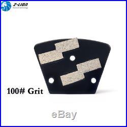 9Pcs Trapezoid Concrete Floor Grinder Grinding Pad Polisher Metal Bond Grit 100