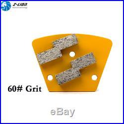9Pcs Trapezoid Concrete Floor Grinder Grinding Pad Polisher Metal Bond Grit 60