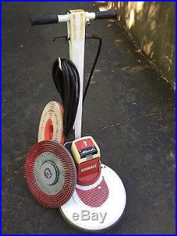 Advance M20HS High Speed Floor Buffer Scrubber Polisher 20 with 2 pad drivers