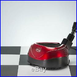 All-In-One Floor Cleaner Scrubber Polisher Non-Damaging w Reusable Pads Red NEW