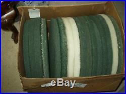 Box of 16 (4)16 & (12) 17 Pads 1 Thick Floor Polisher Assorted Pads